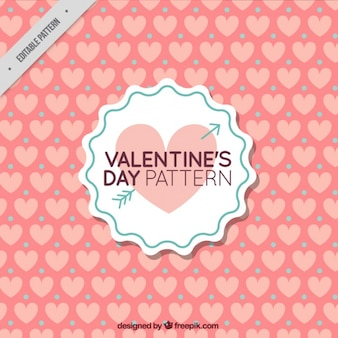 プリティヴィンテージバレンタインハートパターン