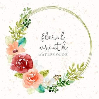 Pretty watercolor floral wreath