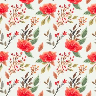 Pretty watercolor flower seamless pattern
