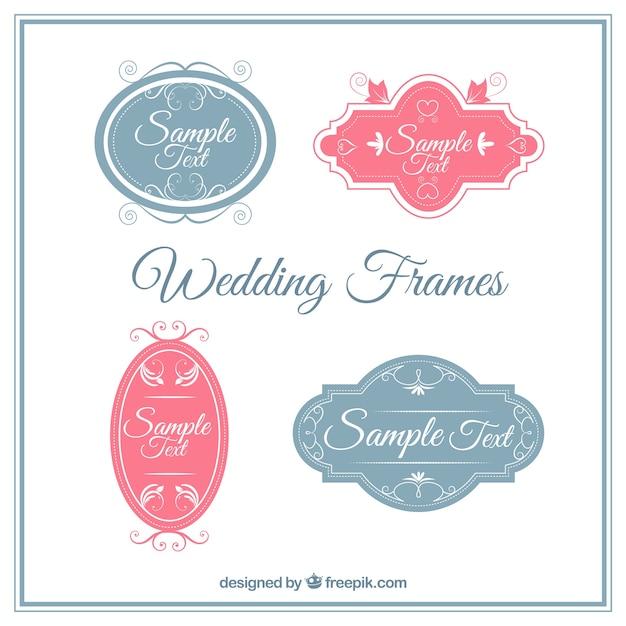 Ornamental Wedding Label Pack