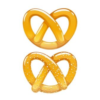 Крендель значок. традиционная немецкая пекарня иллюстрация.
