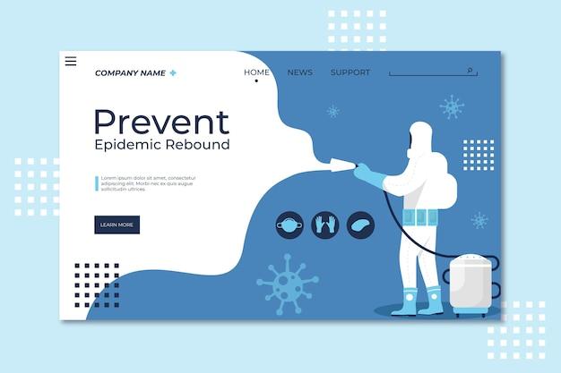 Prevenire il modello della pagina di destinazione del rimbalzo dell'epidemia