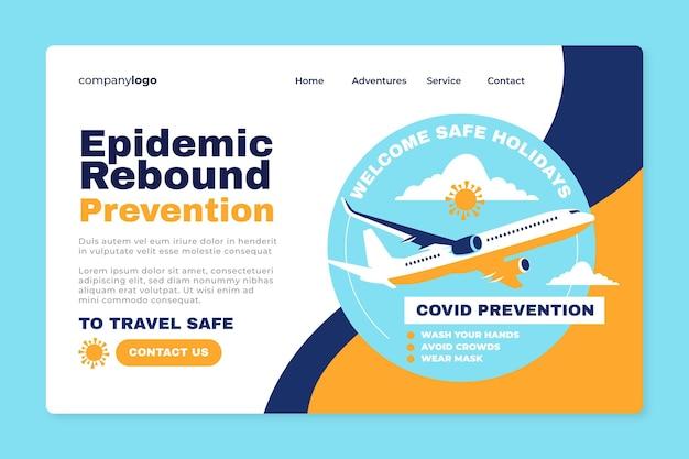 Prevenire il rimbalzo dell'epidemia - landing page