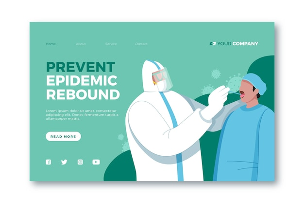 Prevent epidemic rebound landing page