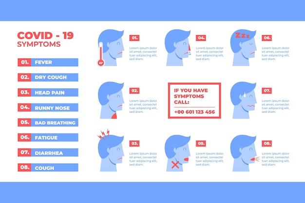 Prevenzione infografica sulla protezione del coronavirus