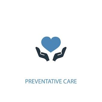 예방 치료 개념 2 색 아이콘입니다. 간단한 파란색 요소 그림입니다. 예방 치료 개념 기호 디자인입니다. 웹 및 모바일 ui/ux에 사용 가능