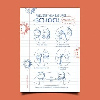 学校での予防策-ポスター