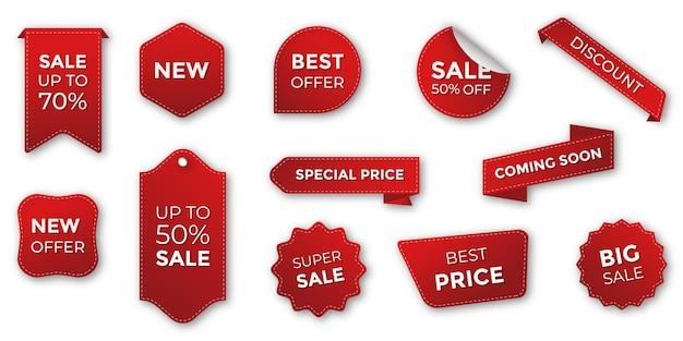 Ценники специальные предложения этикетки и коллекция скидок