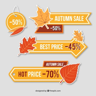 Price banners for autumn