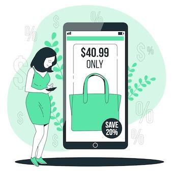 Priceconcept illustration