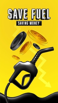 Price for gasoline or diesel fuel concept