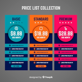 Price list collectio
