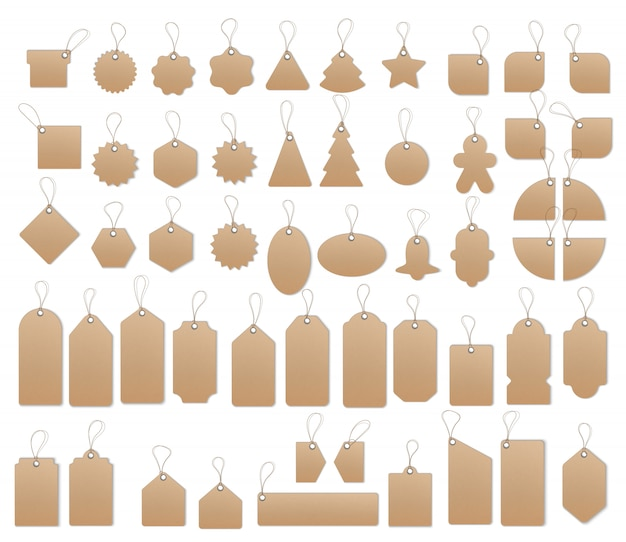 Price or sale tags and labels template set