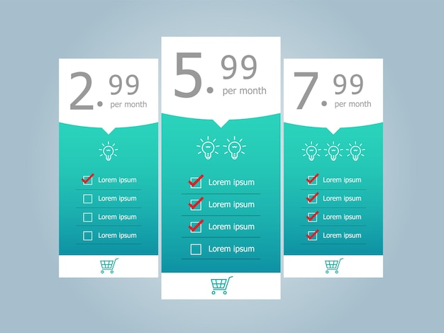 Price table template posters
