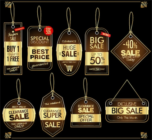 Price tag retro vintage collection