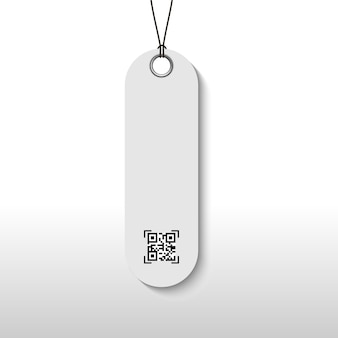 Price tag with qr scanning code for package product.