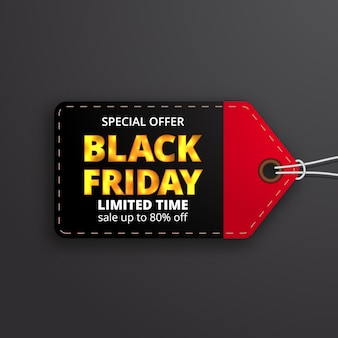 Pricetag label price discount label for black friday sale offer template for clothing fashion