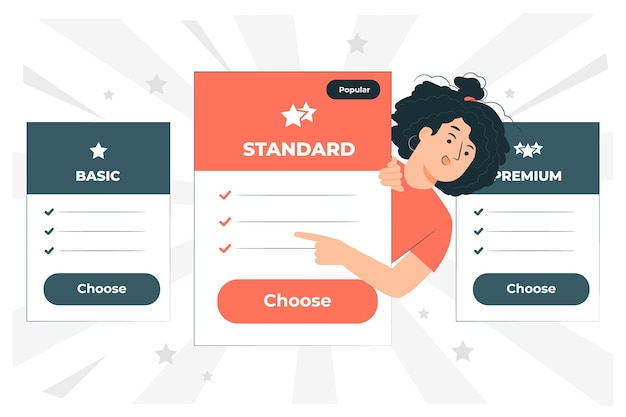 Pricing plans concept illustration