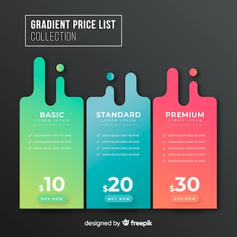 Pricing tables Premium Vector