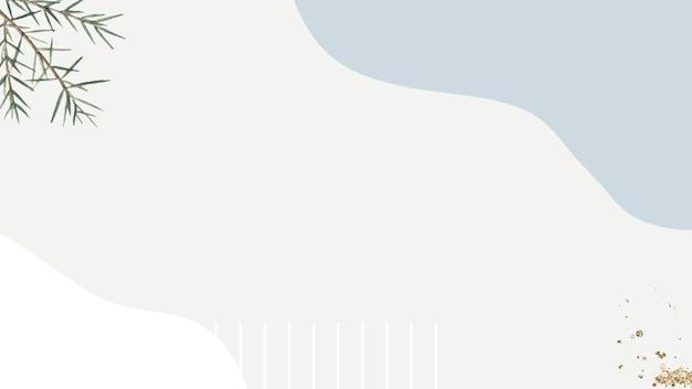 Ramo di ginepro spinoso su fondo beige e grigio minimo