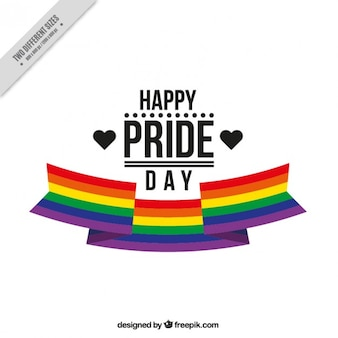 Pride day background with a ribbon