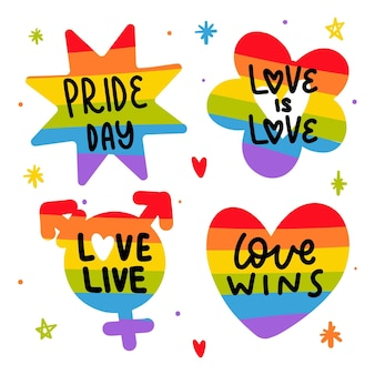 Pride day badges collection