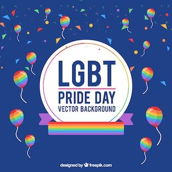 Pride day celebration background