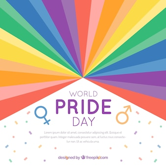 Pride day celebration background