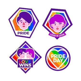 Stile di etichette di celebrazione del giorno dell'orgoglio