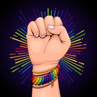 Braccialetto colorato concetto orgoglio