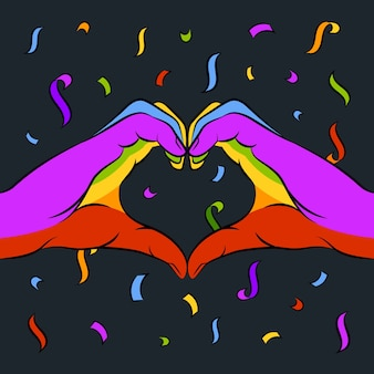 Символ сердца в день гордости
