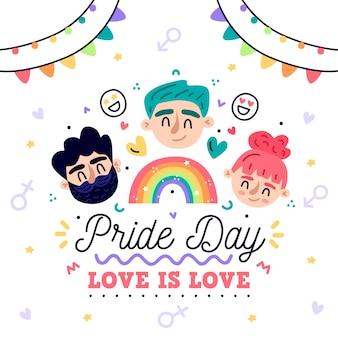 Pride day concept illustration