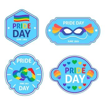 虹のプライド日コンセプトラベル