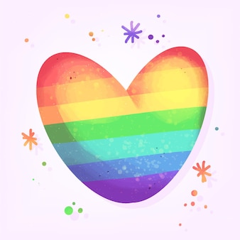 Pride day concept with colorful heart