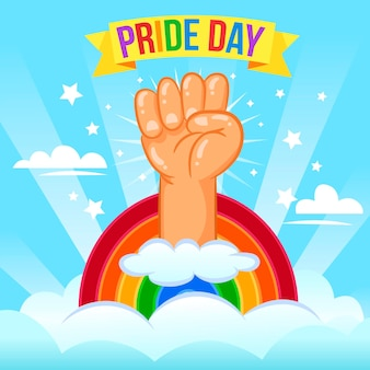 Pride day concept with fist
