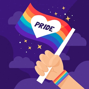 Pride day concept with flag