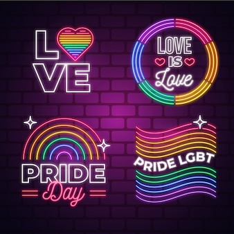 Pride day event neon signs