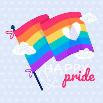 Pride day event with flag