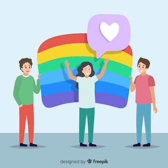 Pride day flag background