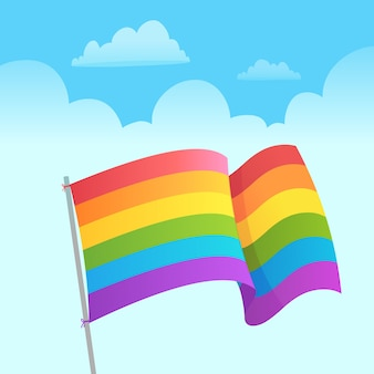 Pride day flag concept