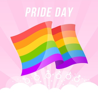 Pride day flag style