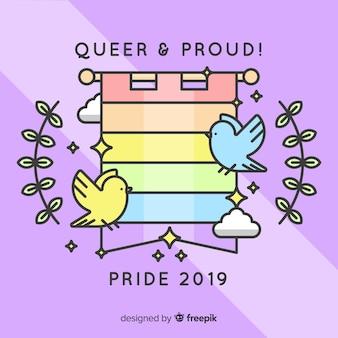Pride day flag