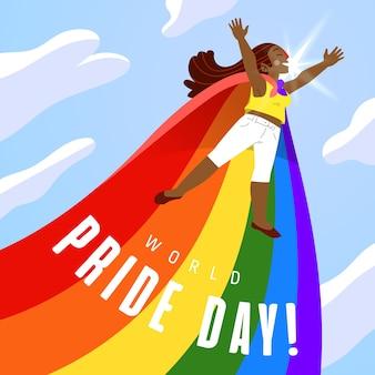 Pride day illustration of flag