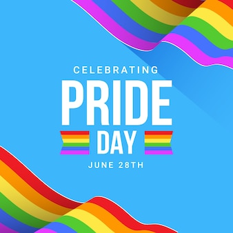 Pride day illustration of rainbow flag
