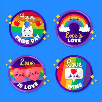 Pride day label set theme