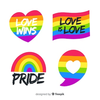 Pride day labels collection