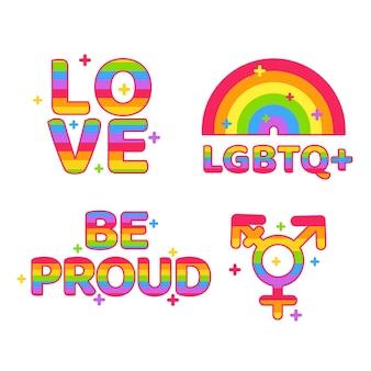 Progettazione di etichette per il giorno dell'orgoglio