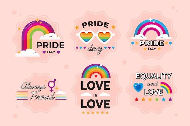 Pride day labels design