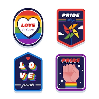 Pride day labels illustrations