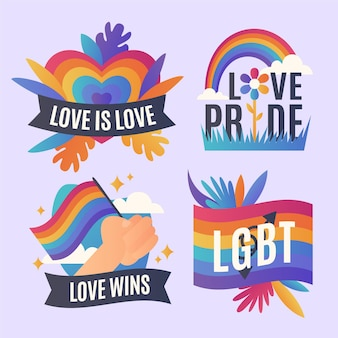 Pride day labels set
